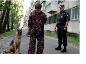 полицейский владелец собаки